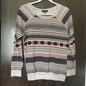Cute tribal print sweater L